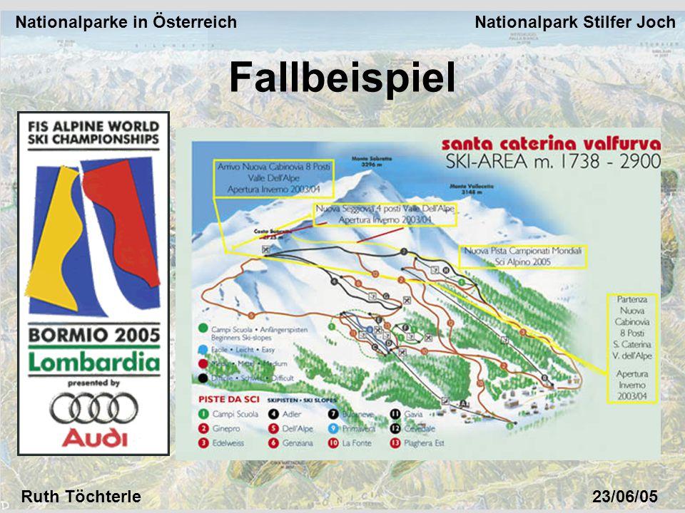 Nationalparke in Österreich Nationalpark Stilfer Joch Ruth Töchterle23/06/05 Fallbeispiel