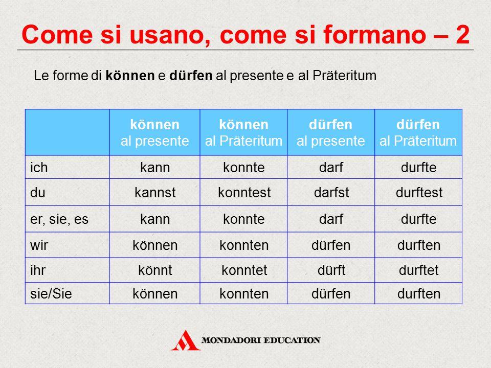 Mettiti alla prova Cerca di riconoscere i verbi modali in un contesto reale.