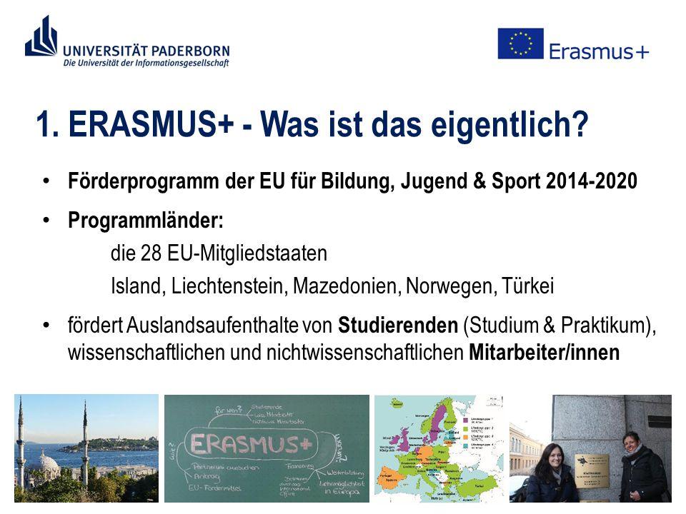 1. ERASMUS+ - Was ist das eigentlich.