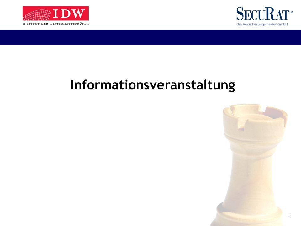 1 Informationsveranstaltung