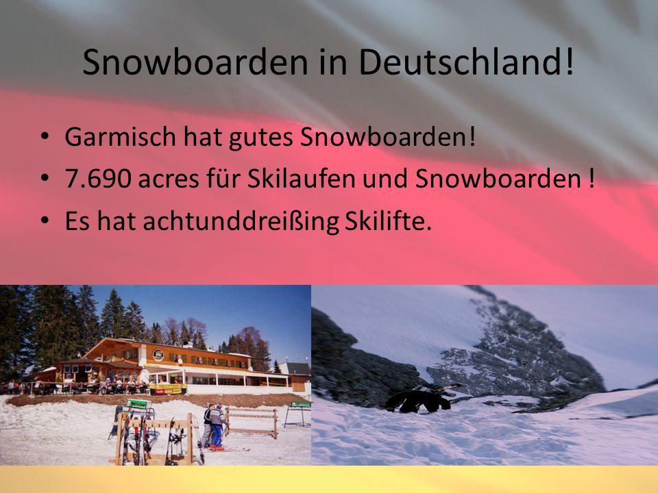 Snowboarden in Deutschland. Garmisch hat gutes Snowboarden.
