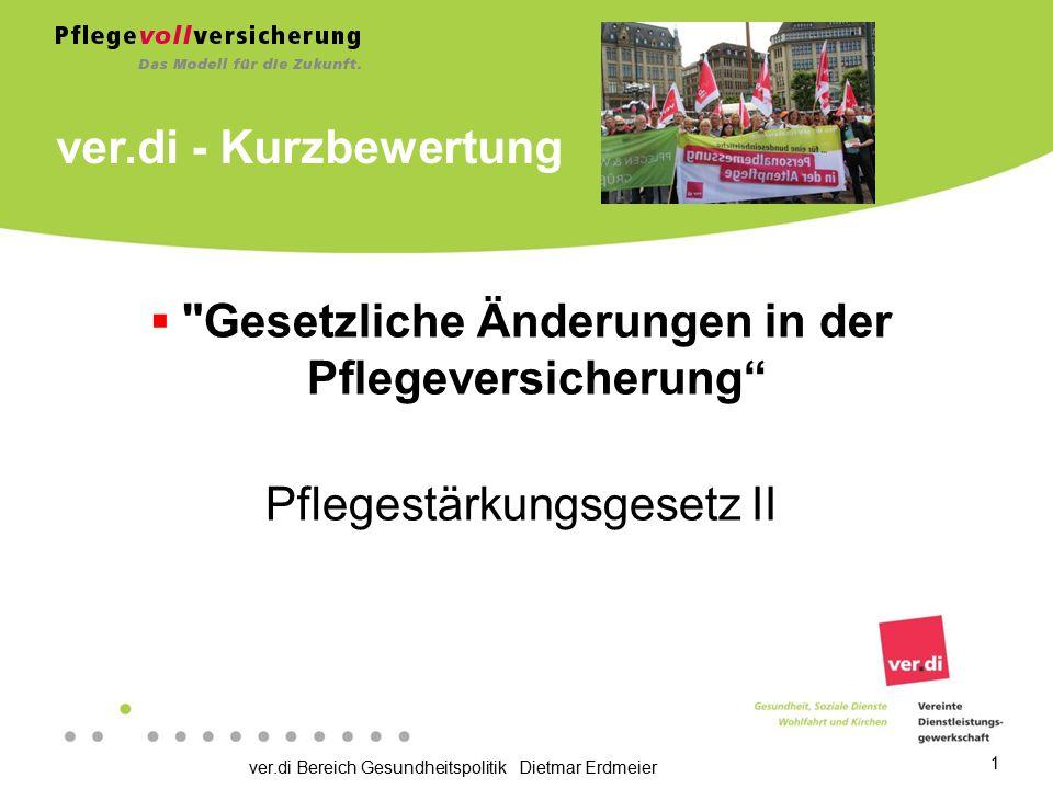 ver.di Bereich Gesundheitspolitik Dietmar Erdmeier 