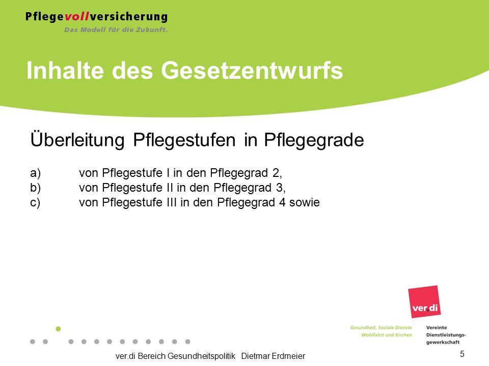ver.di Bereich Gesundheitspolitik Dietmar Erdmeier 6 Beispiel: Versicherte, bei denen eine erheblich eingeschränkte Alltagskompetenz bis zum 31.