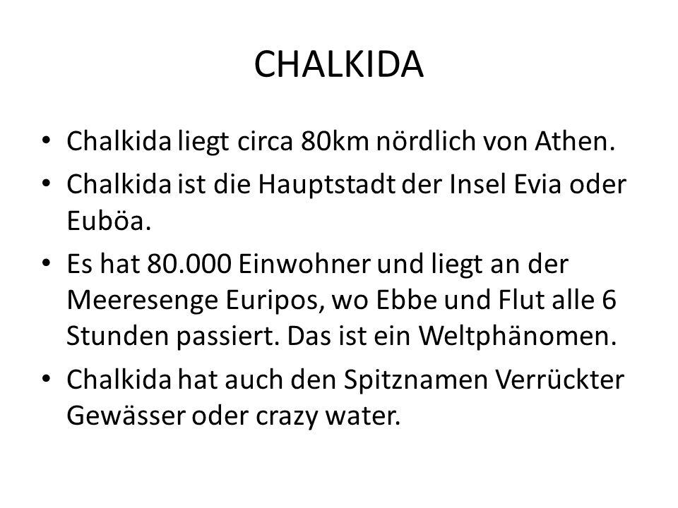 Chalkida liegt circa 80km nördlich von Athen.