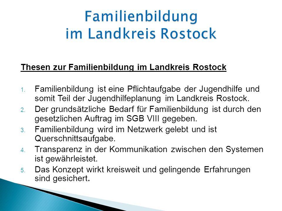 Thesen zur Familienbildung im Landkreis Rostock 1.