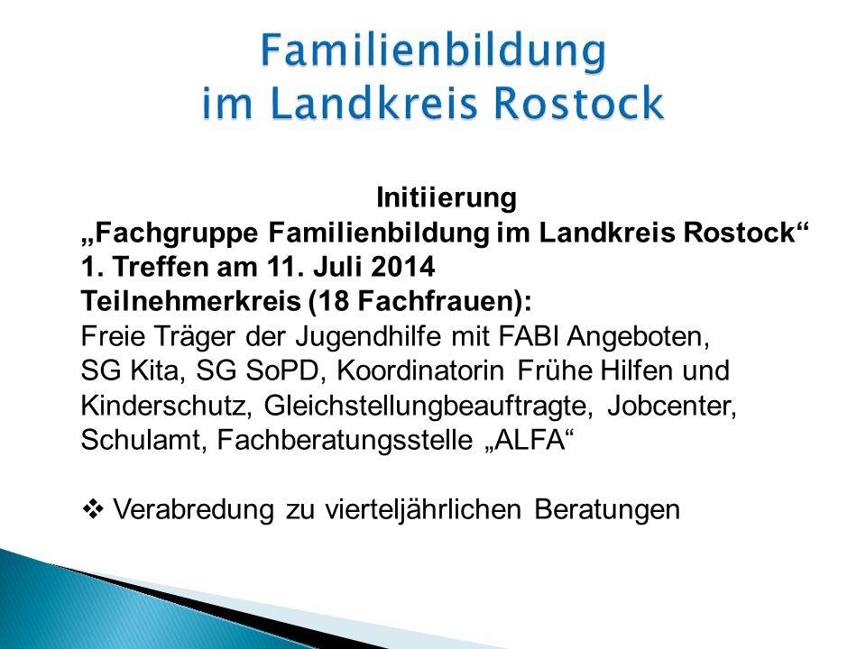 """Initiierung """"Fachgruppe Familienbildung im Landkreis Rostock 1."""