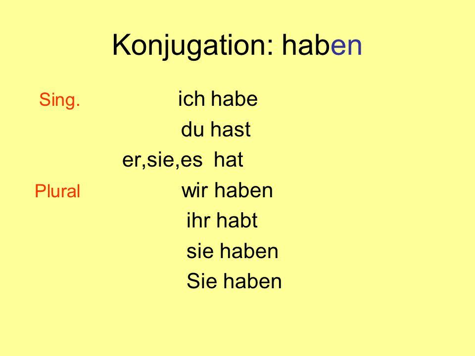 Konjugation: haben Sing.