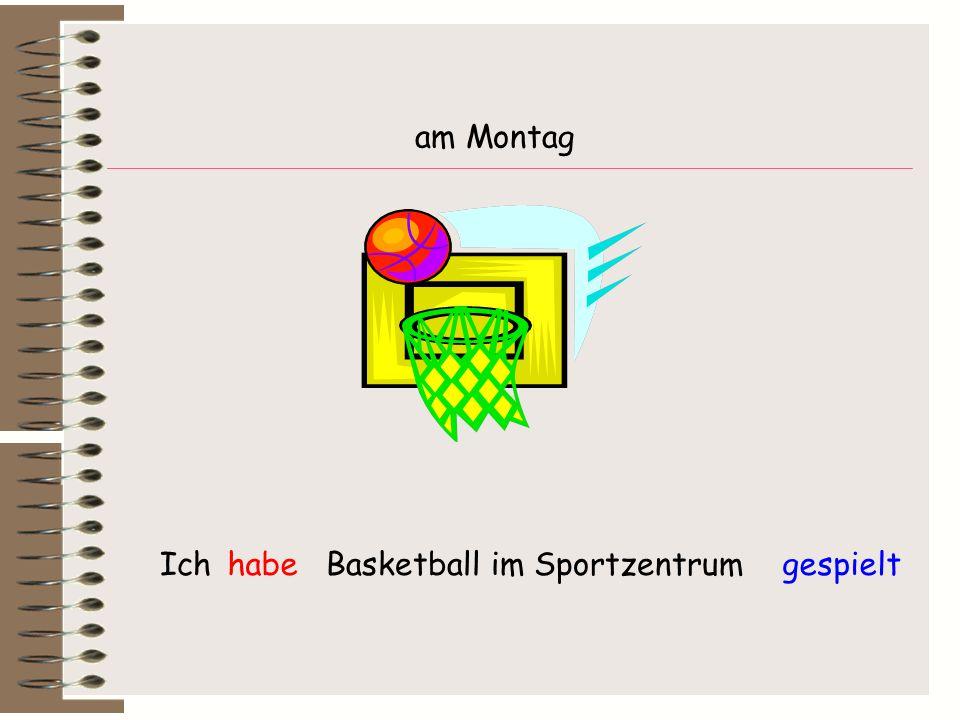 Ich Basketball im Sportzentrumhabegespielt am Montag