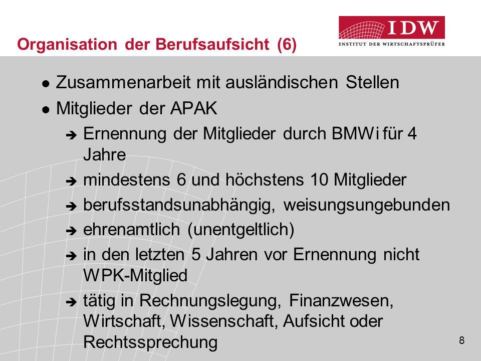 29 Qualitätskontrolle (3)  Verpflichteter Personenkreis (§ 57a Abs.