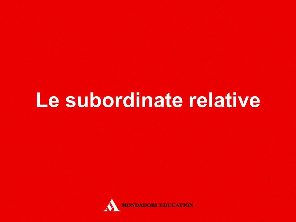 Le subordinate relative