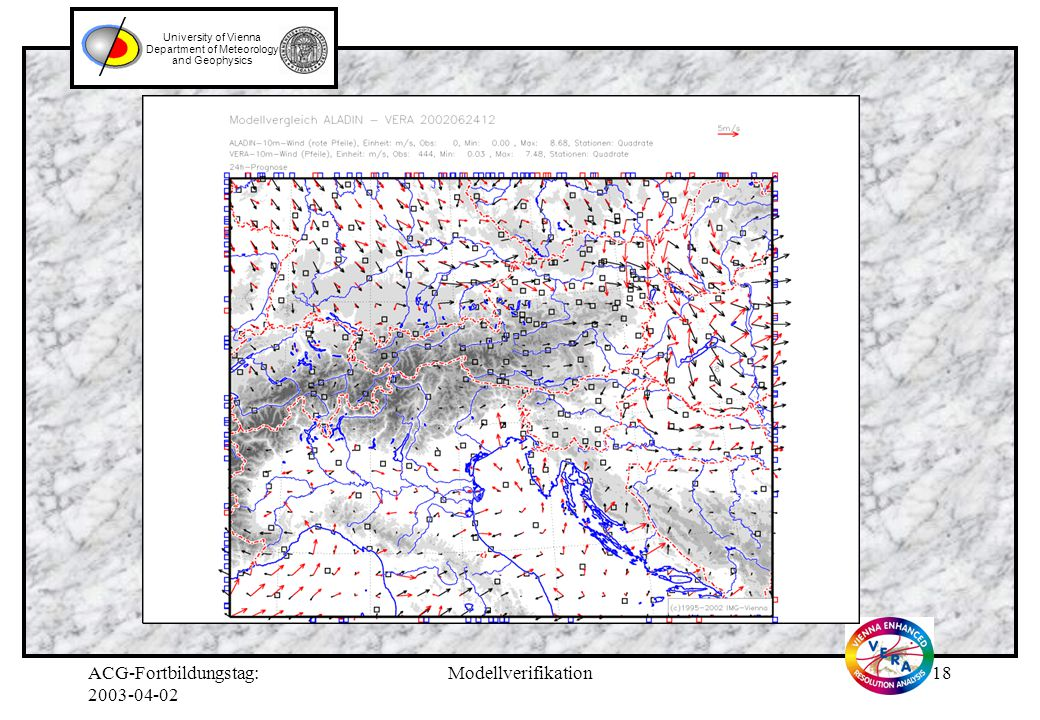 ACG-Fortbildungstag: 2003-04-02 Modellverifikation17 University of Vienna Department of Meteorology and Geophysics
