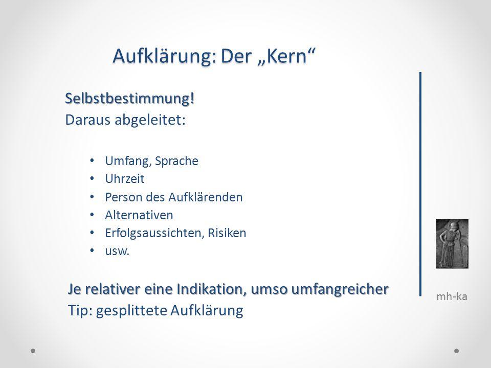"""mh-ka Aufklärung: Der """"Kern Selbstbestimmung."""