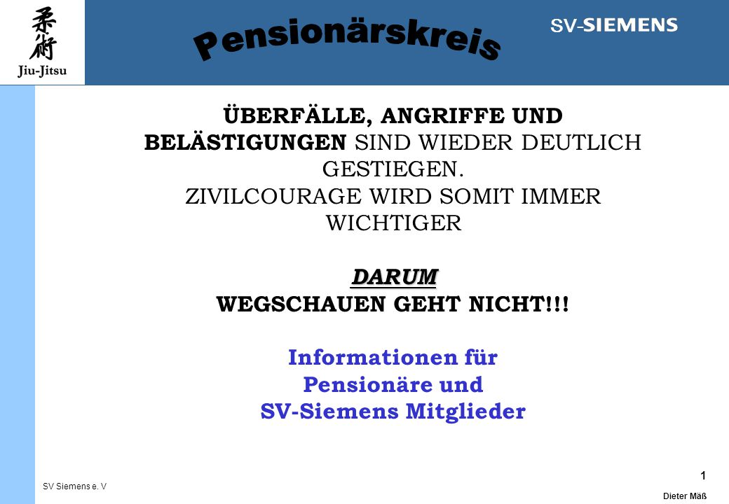 1 Dieter Mäß SV Siemens e.