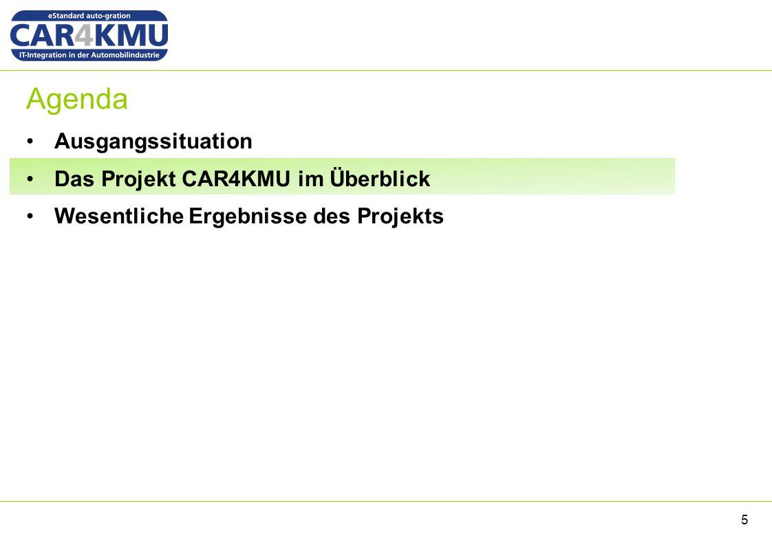 Agenda Ausgangssituation Das Projekt CAR4KMU im Überblick Wesentliche Ergebnisse des Projekts 5