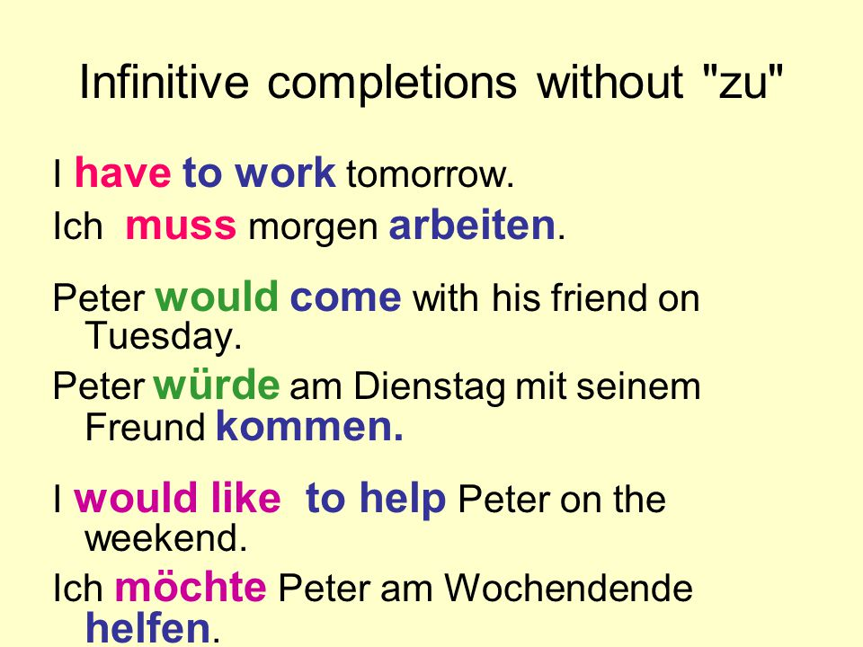 Infinitive completions without