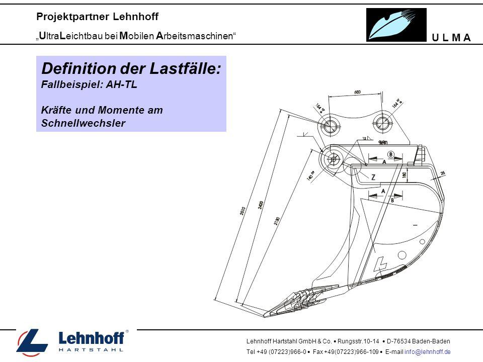 "U L M A Projektpartner Lehnhoff "" U ltra L eichtbau bei M obilen A rbeitsmaschinen Lehnhoff Hartstahl GmbH & Co."