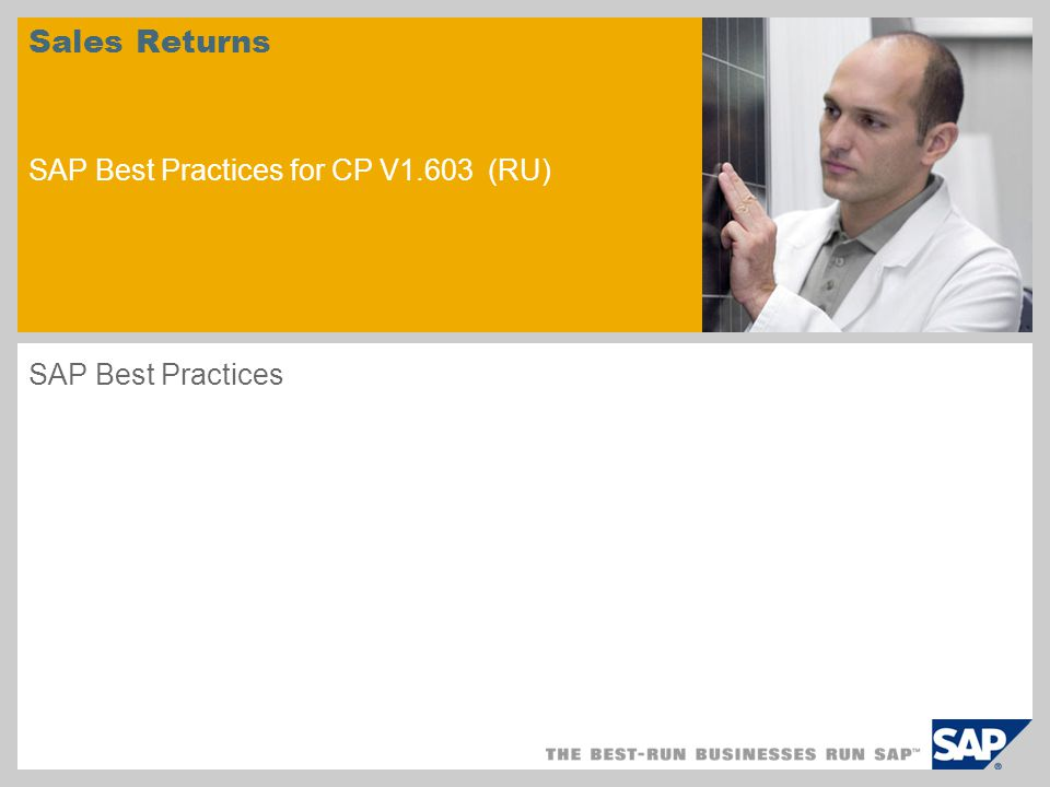 sample for a picture in the title slide Sales Returns SAP Best Practices for CP V1.603 (RU) SAP Best Practices