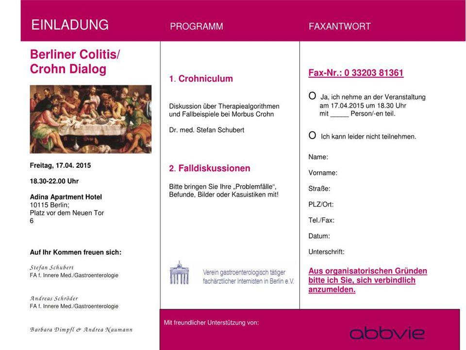 17.04.2015 Berliner Colitis /Crohn-Dialog