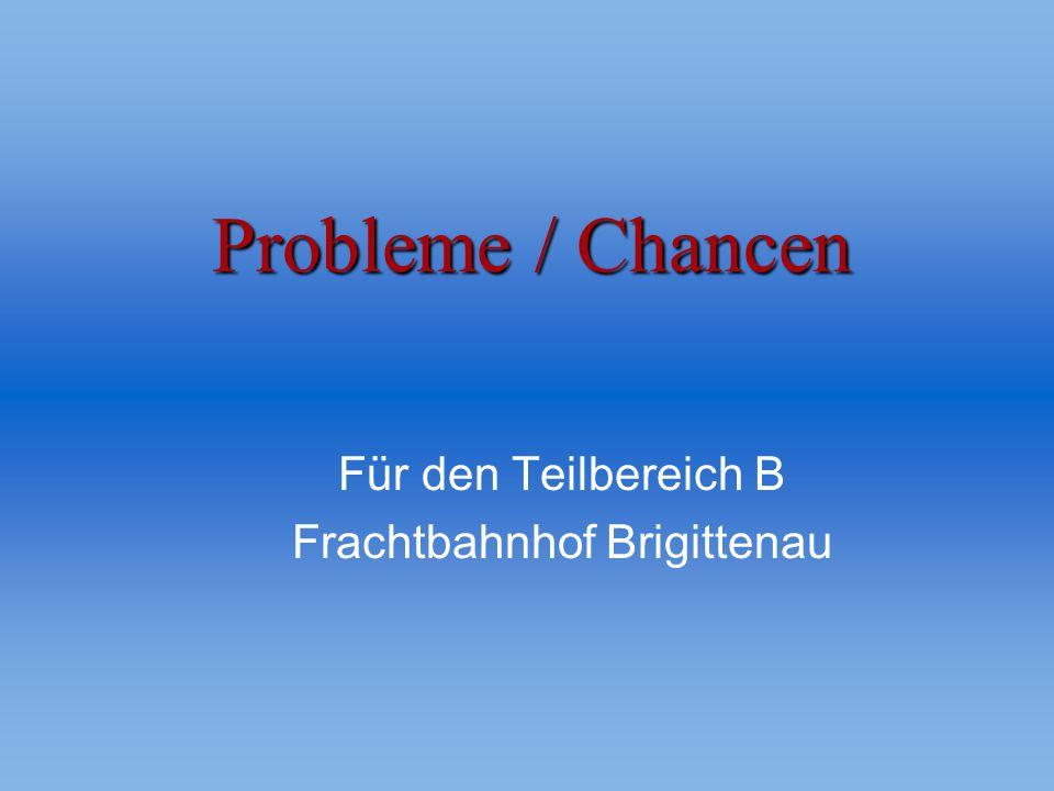 Probleme / Chancen Für den Teilbereich B Frachtbahnhof Brigittenau