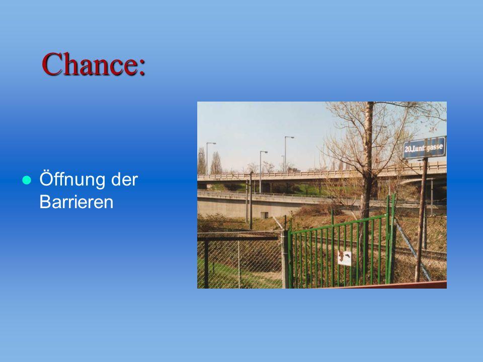 Chance: Öffnung der Barrieren