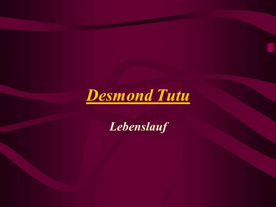 Desmond Tutu Lebenslauf