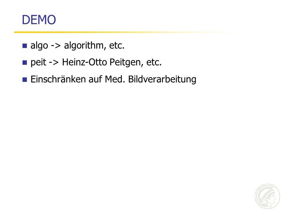 DEMO algo -> algorithm, etc. peit -> Heinz-Otto Peitgen, etc.