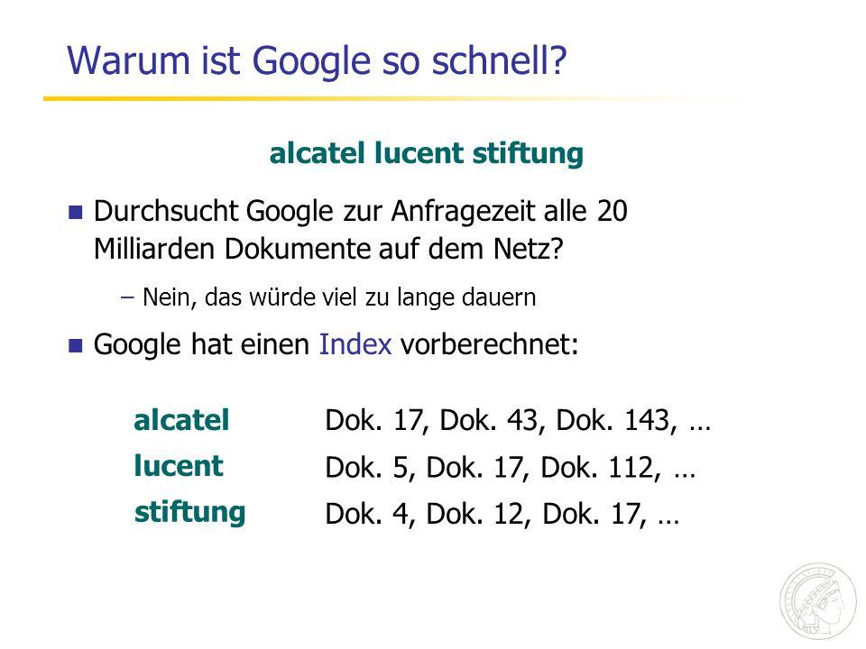Warum ist Google so schnell.