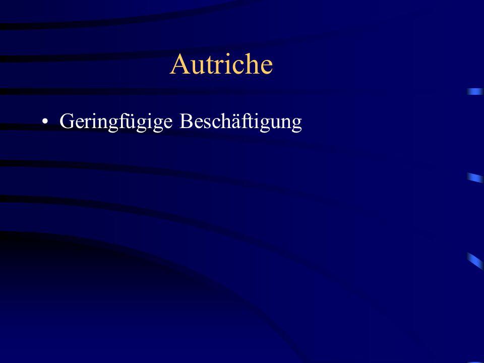 Autriche Geringfügige Beschäftigung