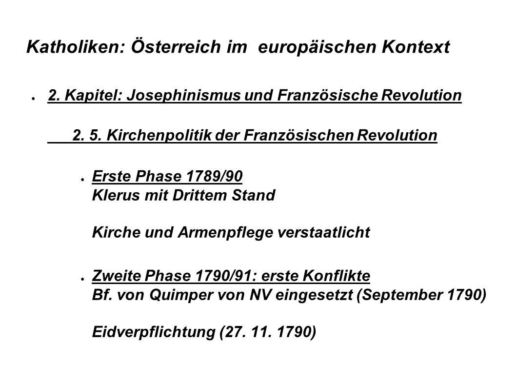 Katholiken: Österreich im europäischen Kontext ● 2.
