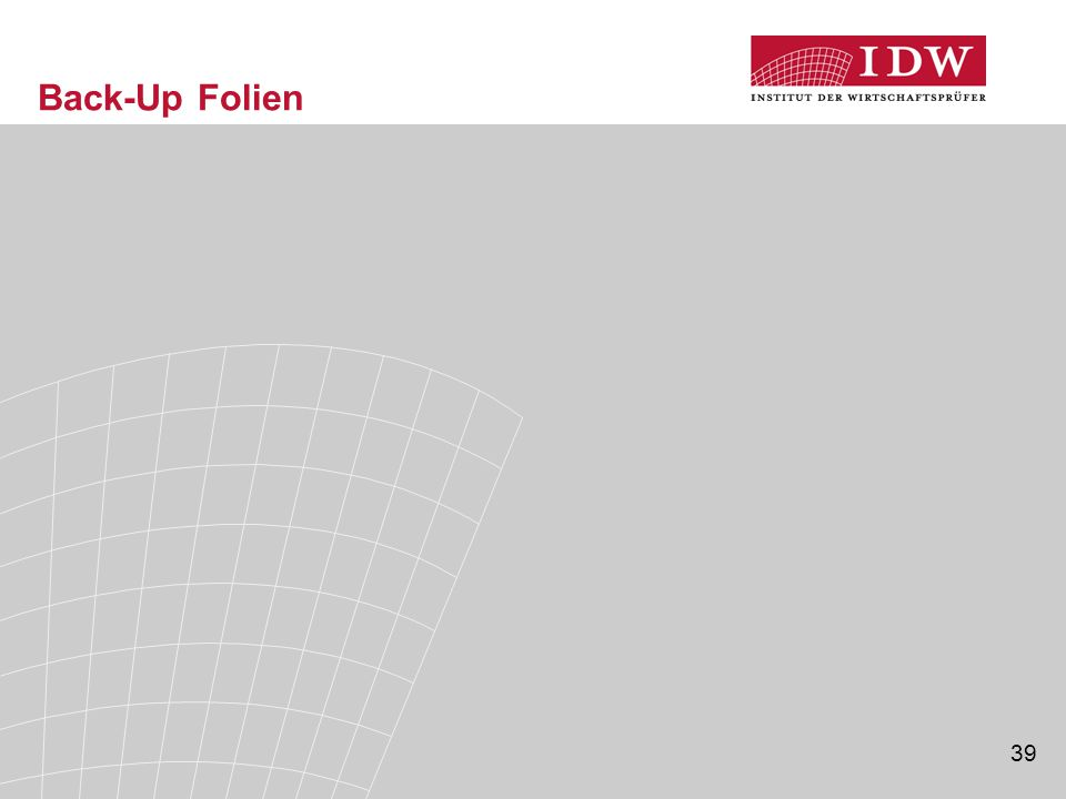 39 Back-Up Folien
