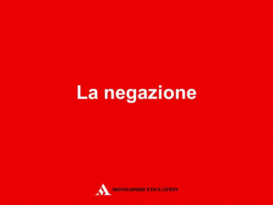 Definizione La negazione può essere espressa con l'articolo kein o con l'avverbio nicht.