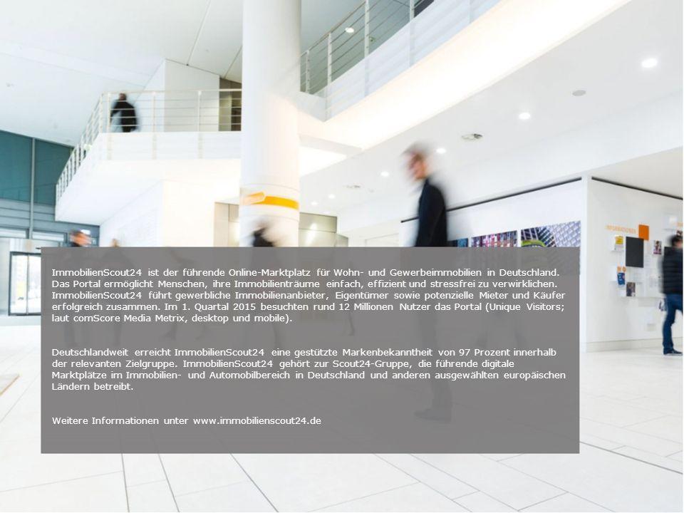 Unternehmenspräsentation | Brand Marketing Seite 4 ImmobilienScout24 ist der führende Online-Marktplatz für Wohn- und Gewerbeimmobilien in Deutschland