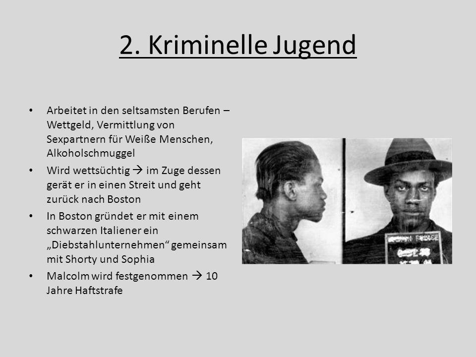 2. Kriminelle Jugend Arbeitet in den seltsamsten Berufen – Wettgeld, Vermittlung von Sexpartnern für Weiße Menschen, Alkoholschmuggel Wird wettsüchtig