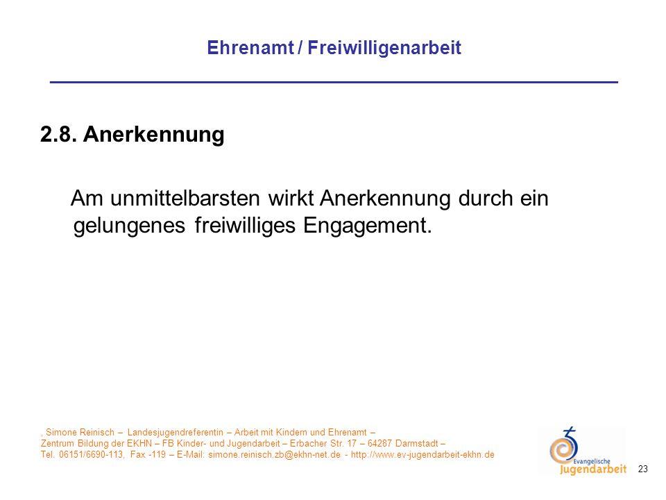 , Simone Reinisch – Landesjugendreferentin – Arbeit mit Kindern und Ehrenamt – Zentrum Bildung der EKHN – FB Kinder- und Jugendarbeit – Erbacher Str.