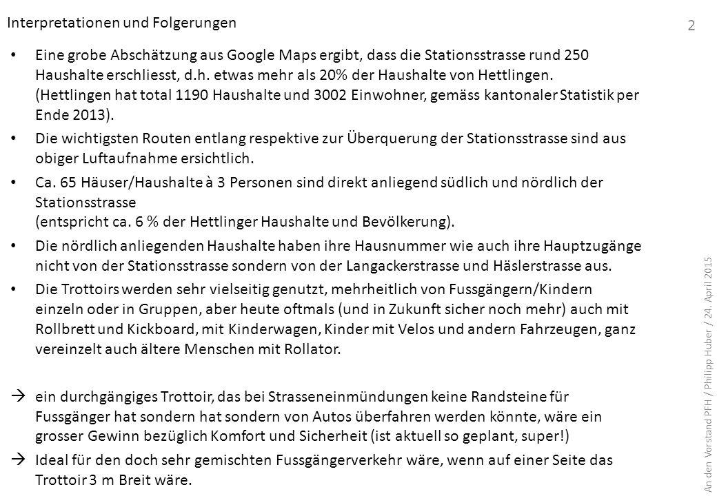 5a 4b 4a 3b 3a 2 5c5b 1d 1c 1b1a Strassenbreite der Stationsstrase bei verschiedenen Messpunkten *) inkl.