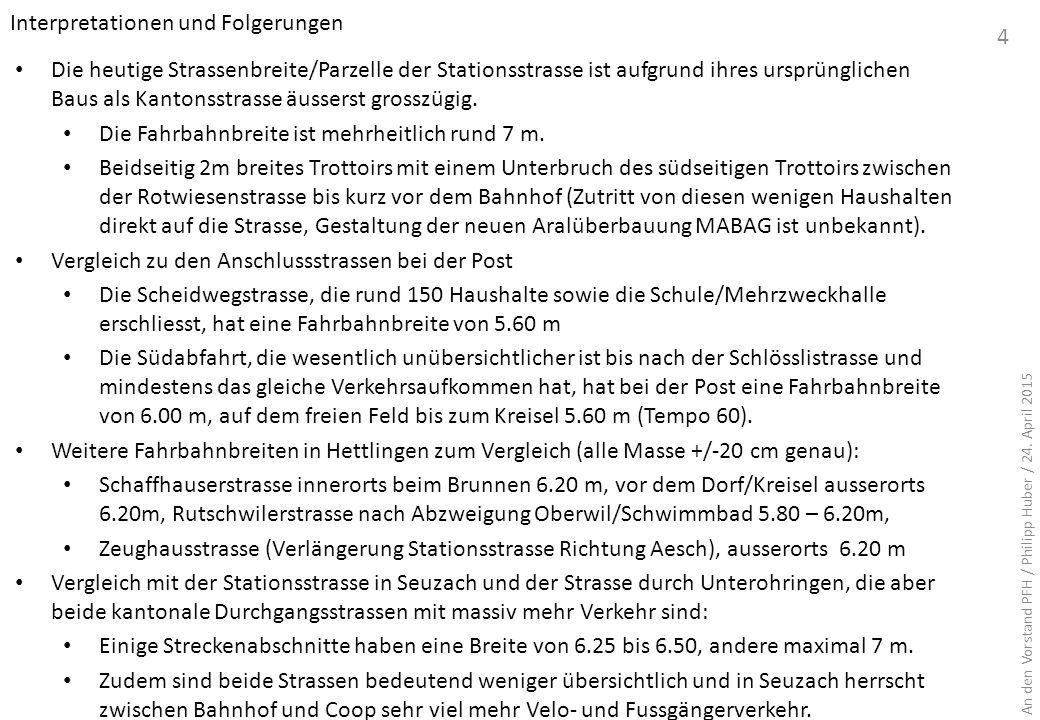 Teil B: Lösungsvarianten B.2 Grobbeurteilung der Varianten 15 Variante A Strasse 2+7+2 Variante B Strasse 3+6 Variante C: Wohnstrasse Variante D: Strasse 2+5.5 Kosten ca.