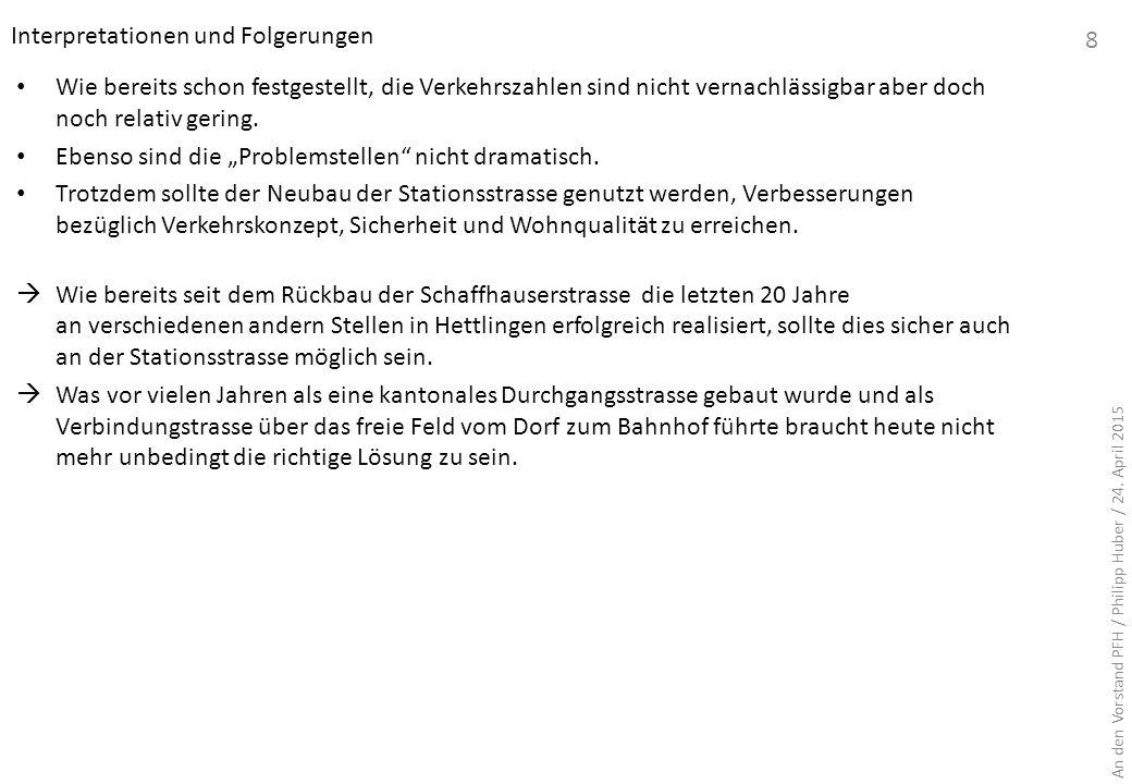 Teil A: Ausgangslage und Grundlagen A.5 Zugangsnormalien und Dimensionierung der Fahrbahnbreite 9 Klassifizierung gemäss den Unterlagen der Gemeinde vom 31.10.2014 An den Vorstand PFH / Philipp Huber / 24.