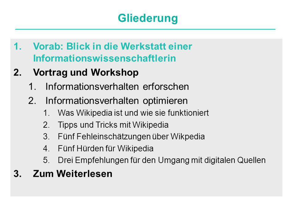 Portal Themenportale bündeln Informationen zu Themengebieten Könnte interessant sein für die Facharbeit http://de.wikipedia.org/wiki/Portal:Informatikhttp://de.wikipedia.org/wiki/Portal:Informatik.