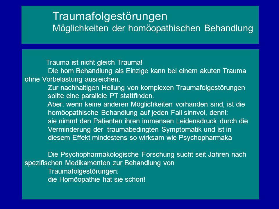 Trauma ist nicht gleich Trauma! Die hom Behandlung als Einzige kann bei einem akuten Trauma ohne Vorbelastung ausreichen. Zur nachhaltigen Heilung von