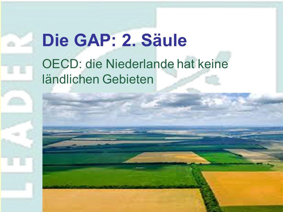 Die GAP: 2. Säule OECD: die Niederlande hat keine ländlichen Gebieten