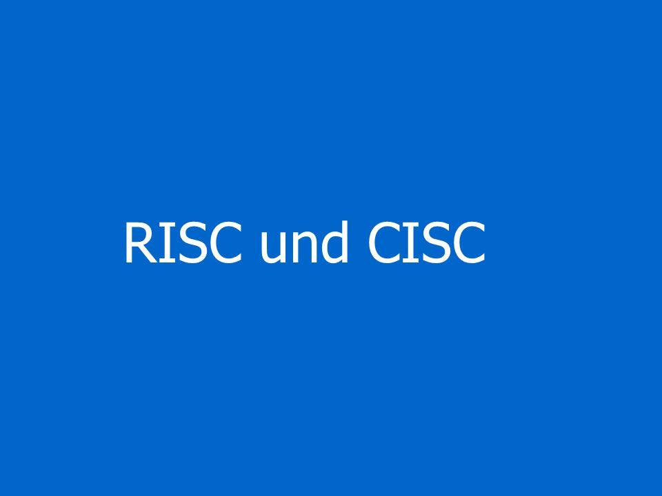 RISC und CISC