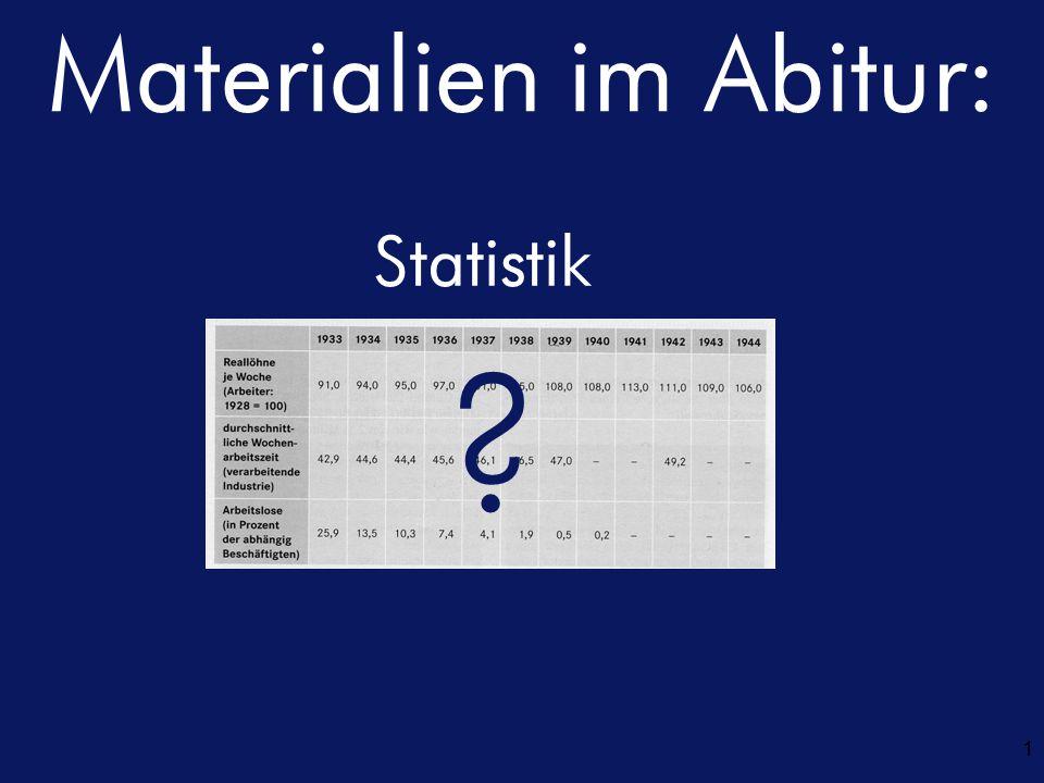 Materialien im Abitur: 1 Statistik ?