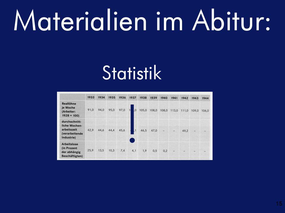 Materialien im Abitur: 15 Statistik !