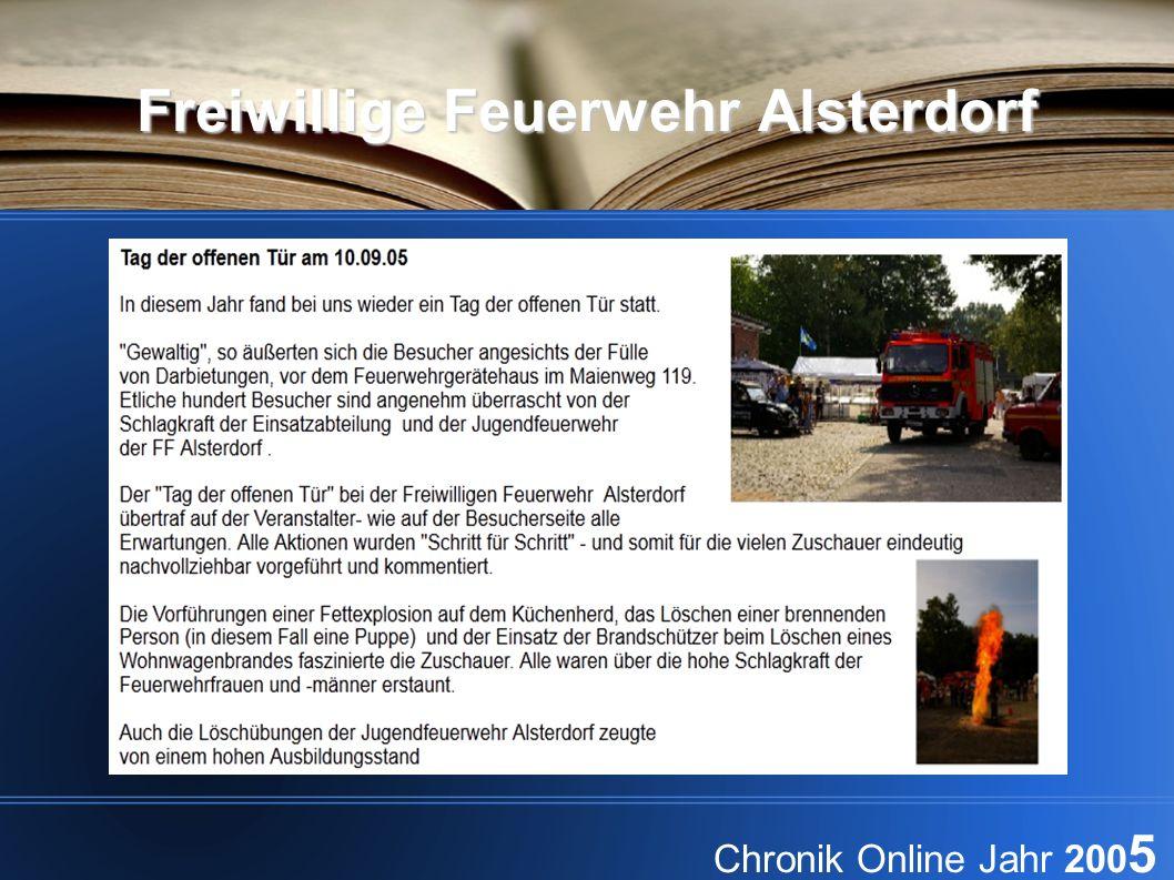 Freiwillige Feuerwehr Alsterdorf Chronik Online Jahr 200 5