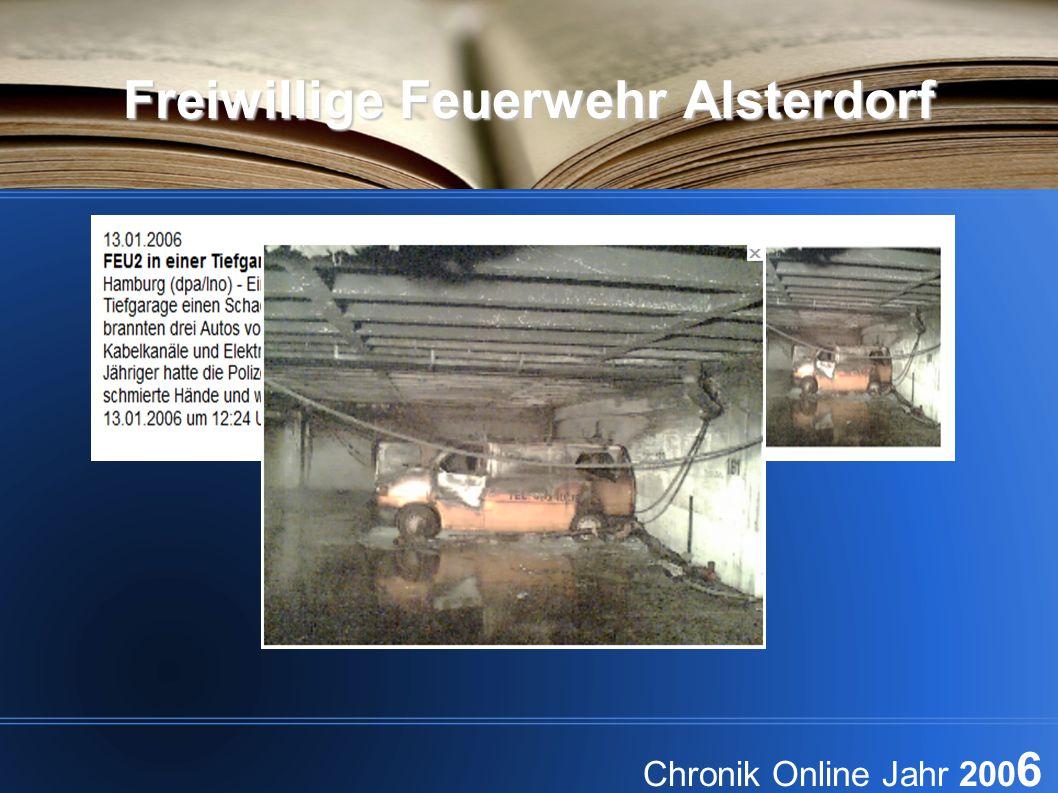 Freiwillige Feuerwehr Alsterdorf Chronik Online Jahr 200 6