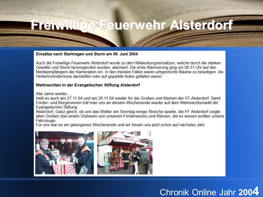 Freiwillige Feuerwehr Alsterdorf Chronik Online Jahr 200 4