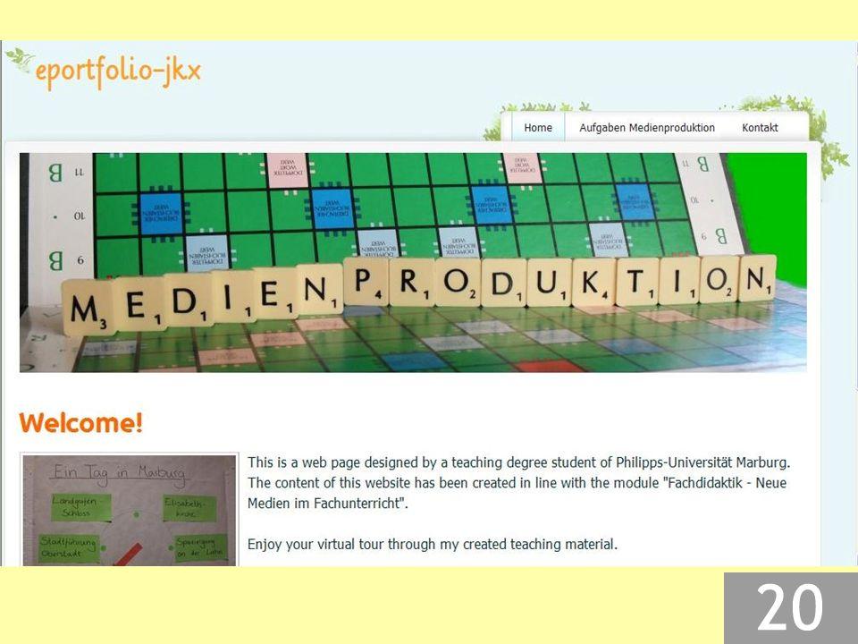 Quellenangaben  im Produkt selbst: Fußzeile  auf der Website: unten am Ende der Seite