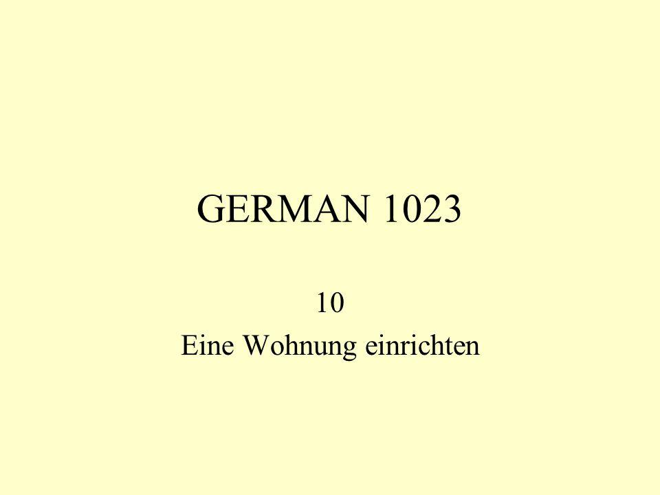 GERMAN 1023 10 Eine Wohnung einrichten