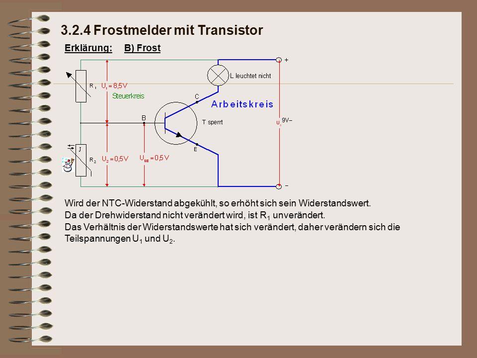 Erklärung: Das Verhältnis der Widerstandswerte hat sich verändert, daher verändern sich die Teilspannungen U 1 und U 2. Da der Drehwiderstand nicht ve
