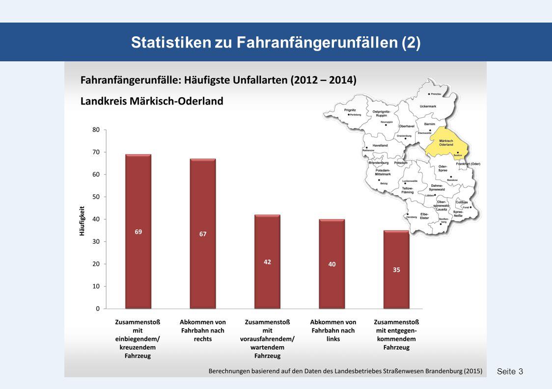 Seite 3 Statistiken zu Fahranfängerunfällen (2)